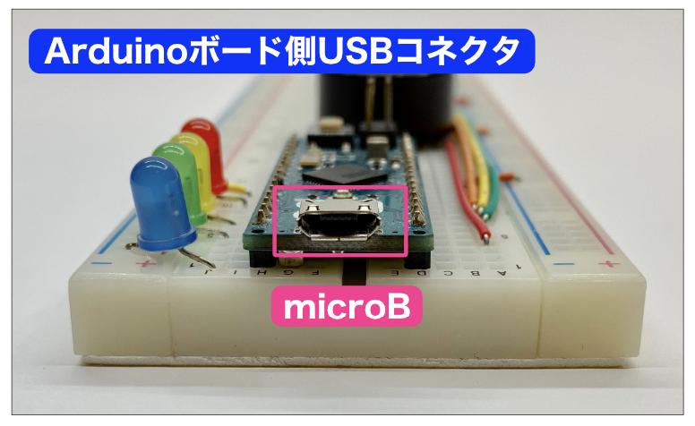 Arduinoボード側USBコネクタ