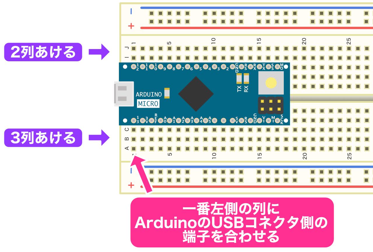 Arduino差し込み位置