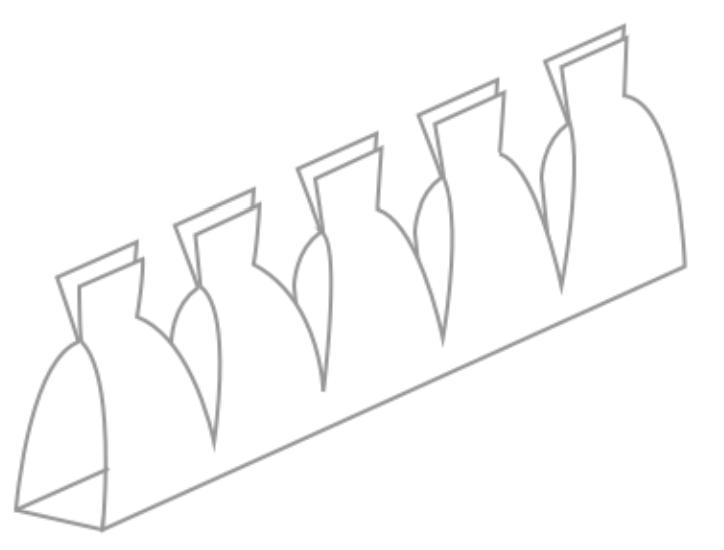 ブレッドボード内部の板バネ