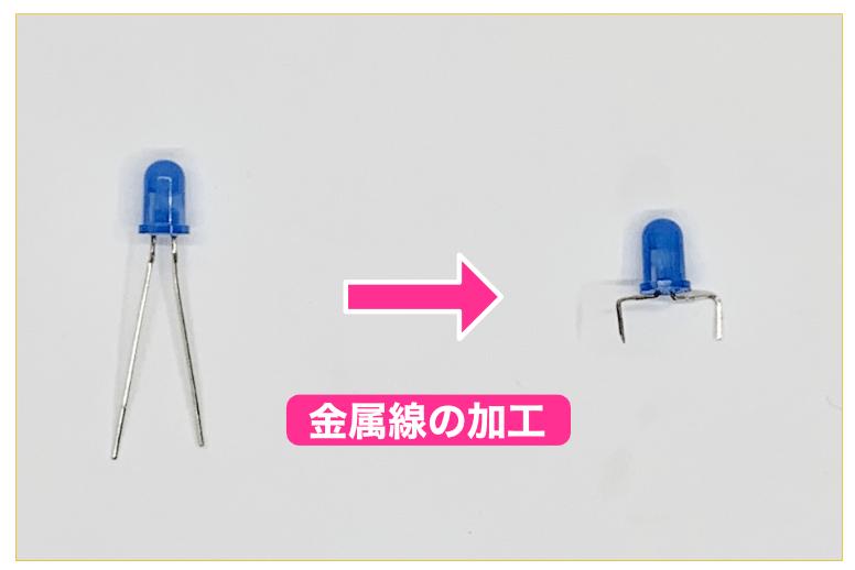 LED金属線の加工