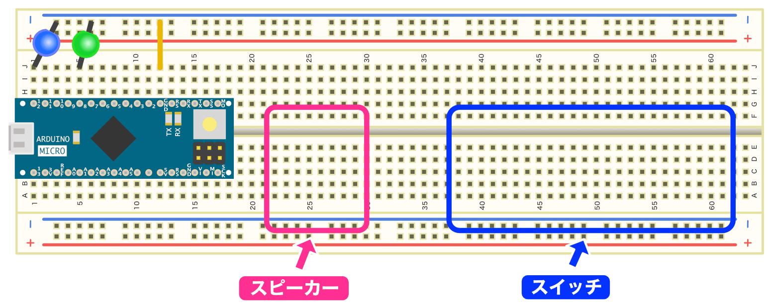 スピーカーとスイッチの予定位置