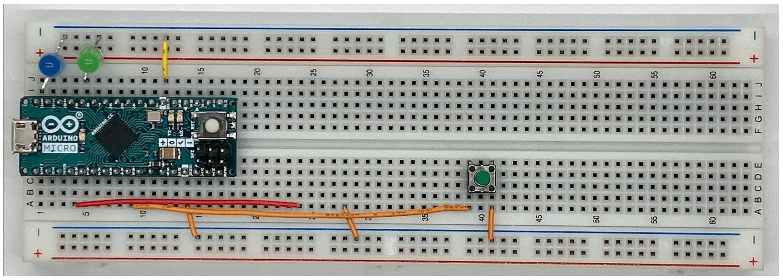 ブレッドボードのスピーカー設置