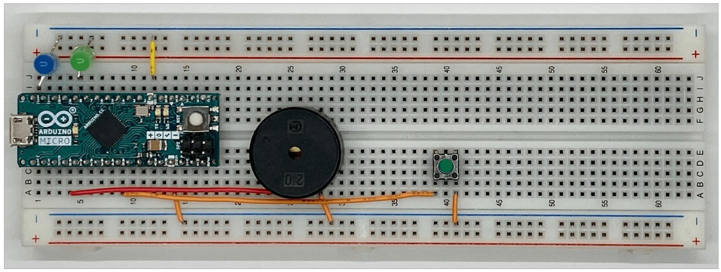 ブレッドボードの配線状態