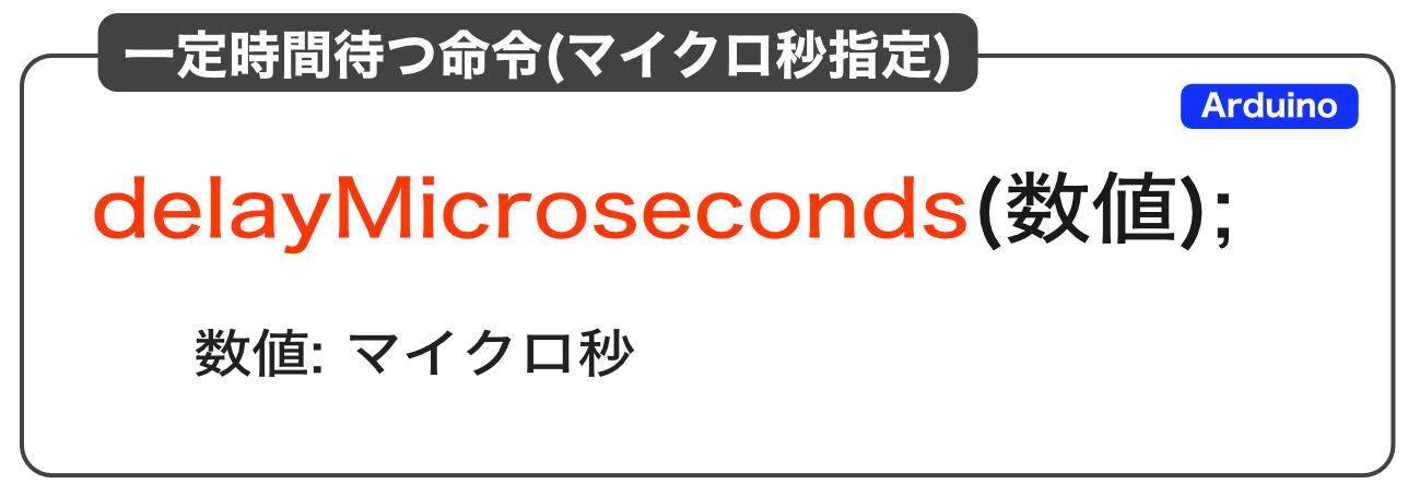 delayMicroseconds